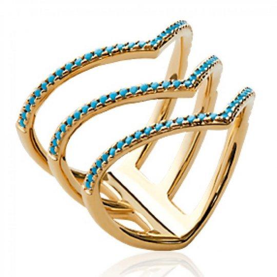 Anello triple anneau en V...