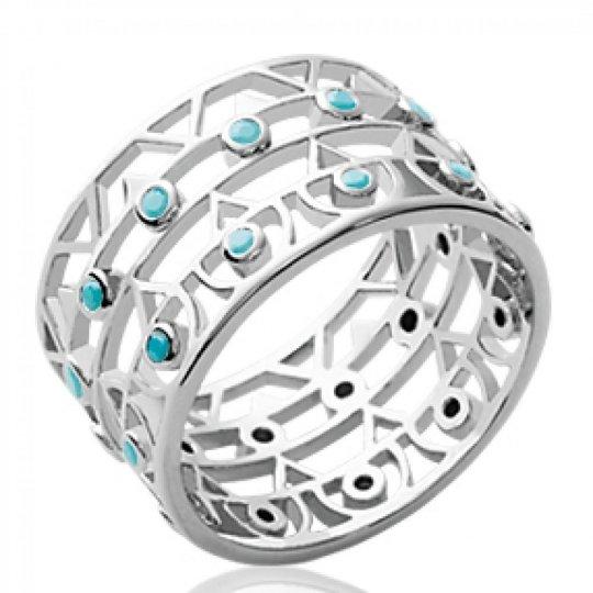 Ring tube Aztèque & pierres...