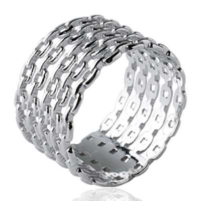 Ring tube Chains rigides Argent - Women