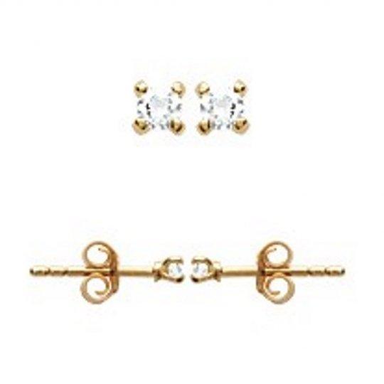 Earrings Gold plated 18k -...
