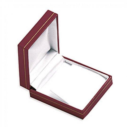 Écrin Leder rouge pour Ohrringe boite cadeau 82x70x30mm