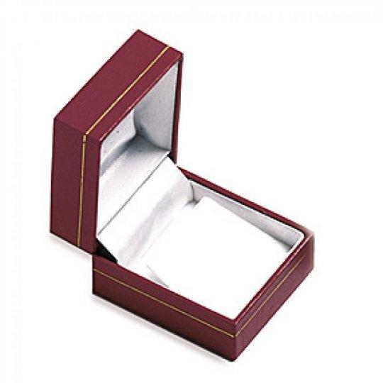 Écrin Leather rouge pour Earrings boite cadeau 25mm