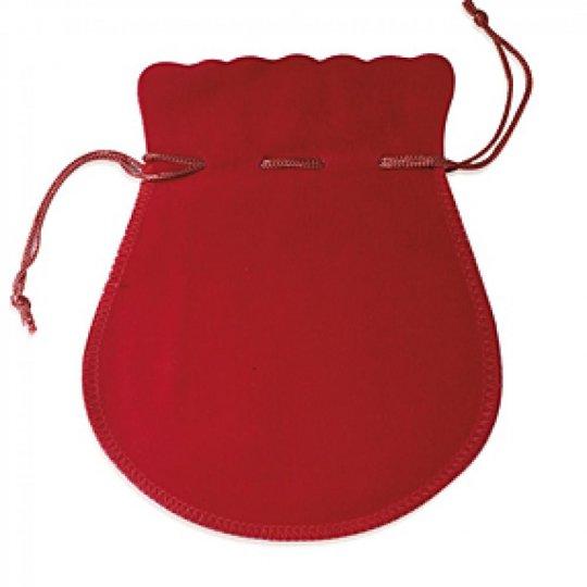 Pochon rouge 40mm pour Ohrringe Ringe Kette Anhänger
