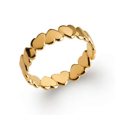 Ring Hearts Gold plated 18k - Women