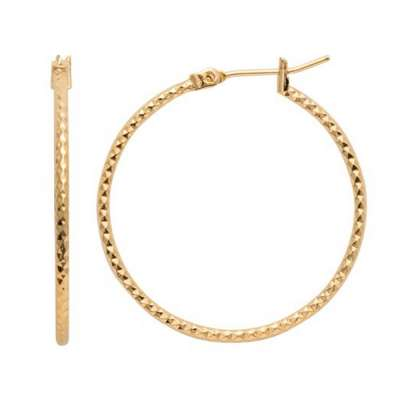 Hoop Earrings martelées Gold plated 18k - 30mm