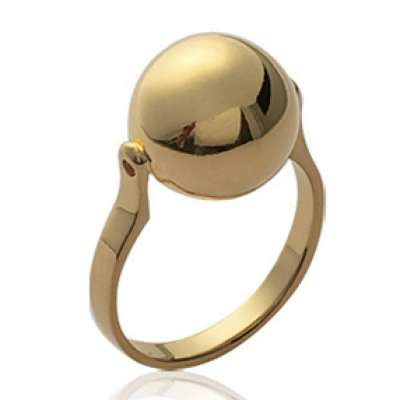 Anello grosse Sfera Palla Placcato in oro 18k - Donna