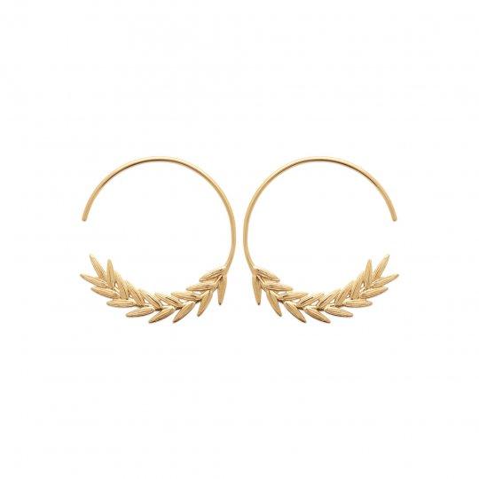 Hoop Earrings ouvertes épis Gold plated 18k - Women