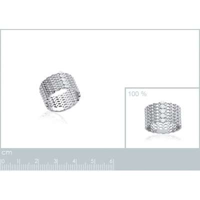 Bague tube style chaines...