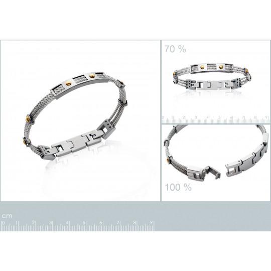 Bracelet Steel cable 316L -...