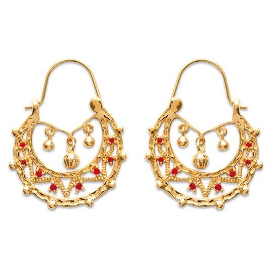 Hoop Earrings Savoyardes Gipsy Gold plated 18k - Earrings...
