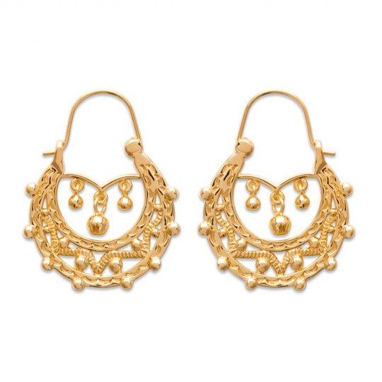 Savoyardes Hoop Earrings Gitanes Gold plated 18k 25mm -...