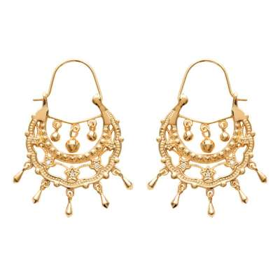 Earrings Savoyardes Gipsy Gold plated 18k - Cubic Zirconia