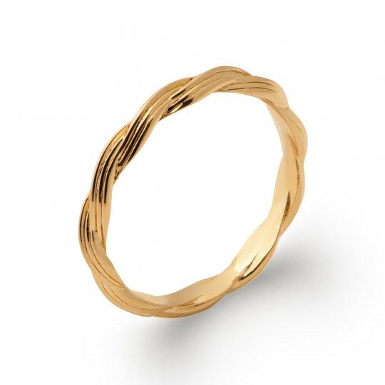 Ring tressée Gold plated 18k - Women