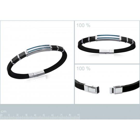 Bracelet cuir noir & câbles...