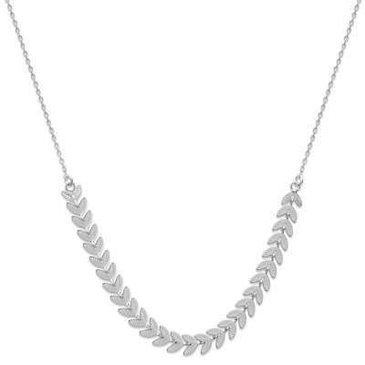Collier Laurier Luxe Argent...