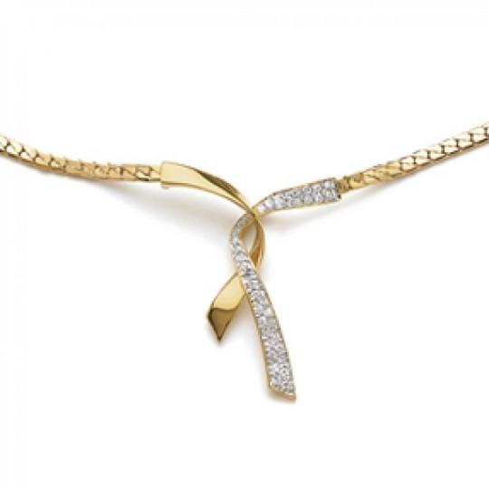 Halskette Noeud enlacé Vergoldet 18k - Kubisches...