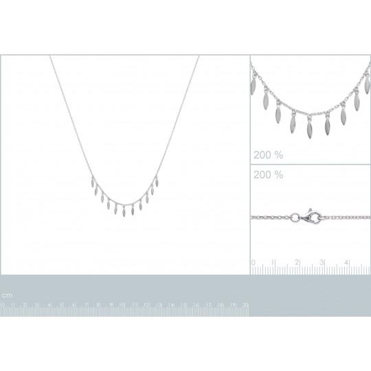 Necklace Feather breloque...
