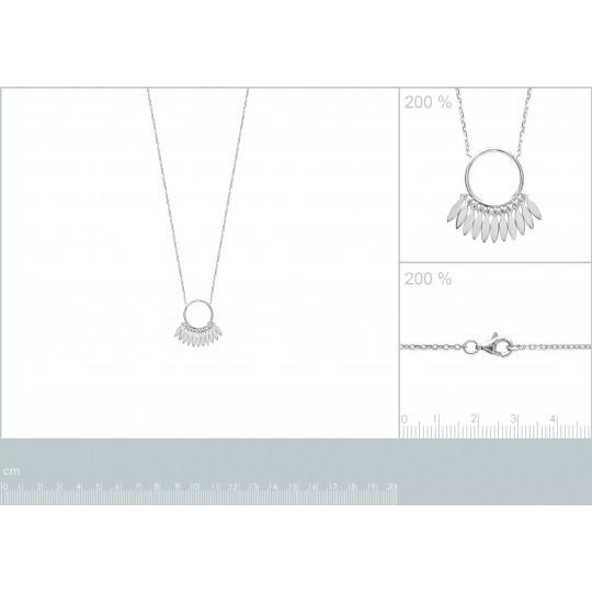 Necklace anneau breloque...