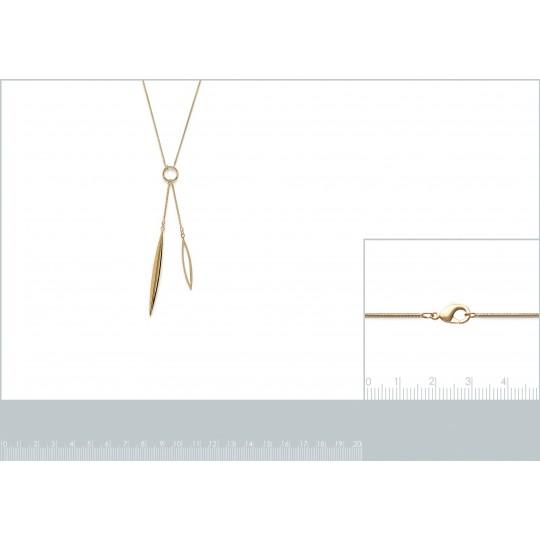 Necklace en Y cravate Gold...