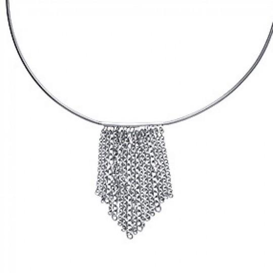 Necklace Torque breloques Chains Acier 316L - Women - 42cm