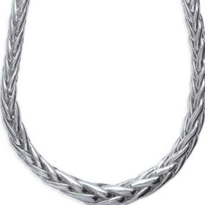 Necklace Palmier Rhodium plated Sterling Silver - Women -...
