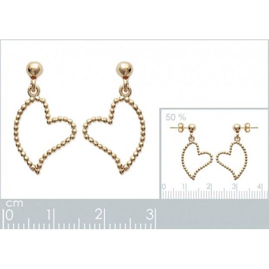 Earrings Heart  perlé Gold...