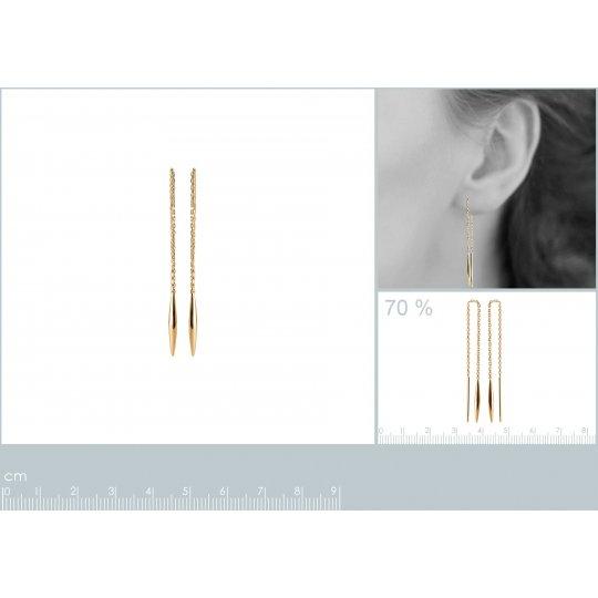 Earrings Traversante Gold...