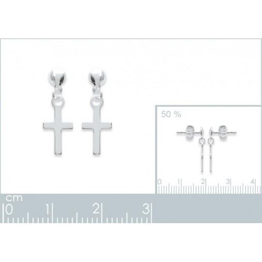 Earrings Christian cross...