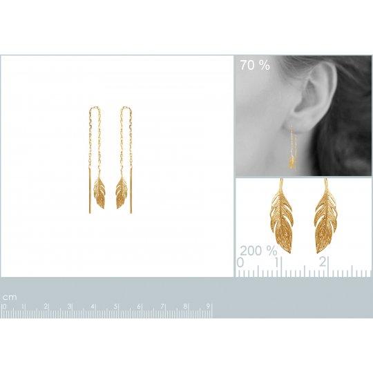 Earrings Feathers Chain...
