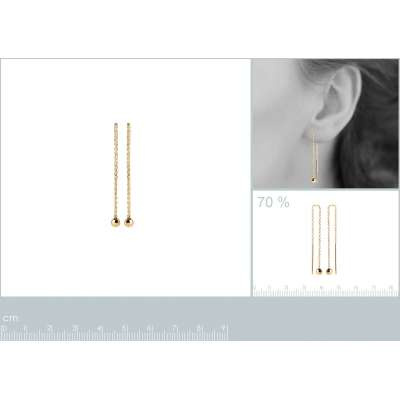 Earrings Ball   Gold plated...