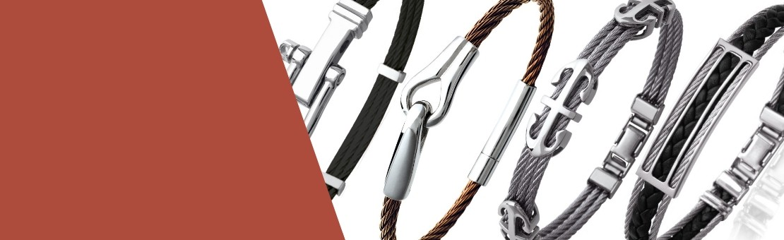 Pulseras cable de acero